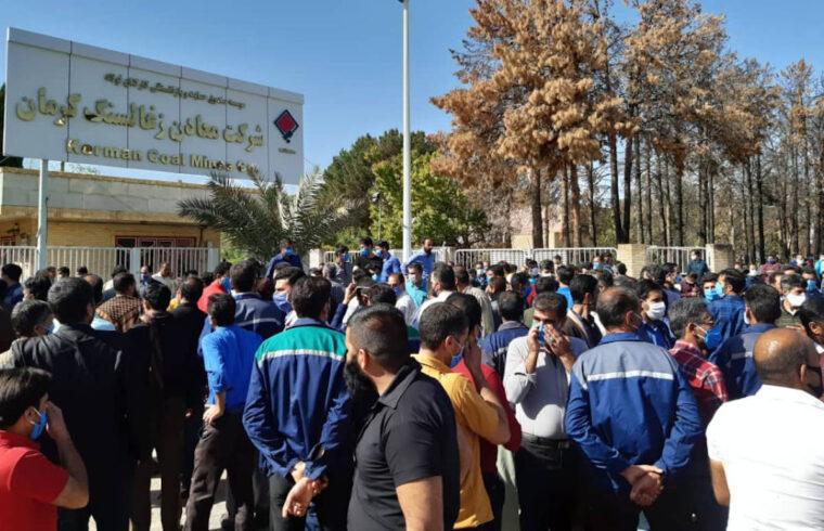 اعتصاب ۳۰۰۰ نفر از کارگران معدن زغالسنگ کرمان