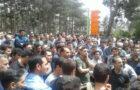 اعتصاب و تجمع هشتروزهی کارگران لاستیک پارس ساوه